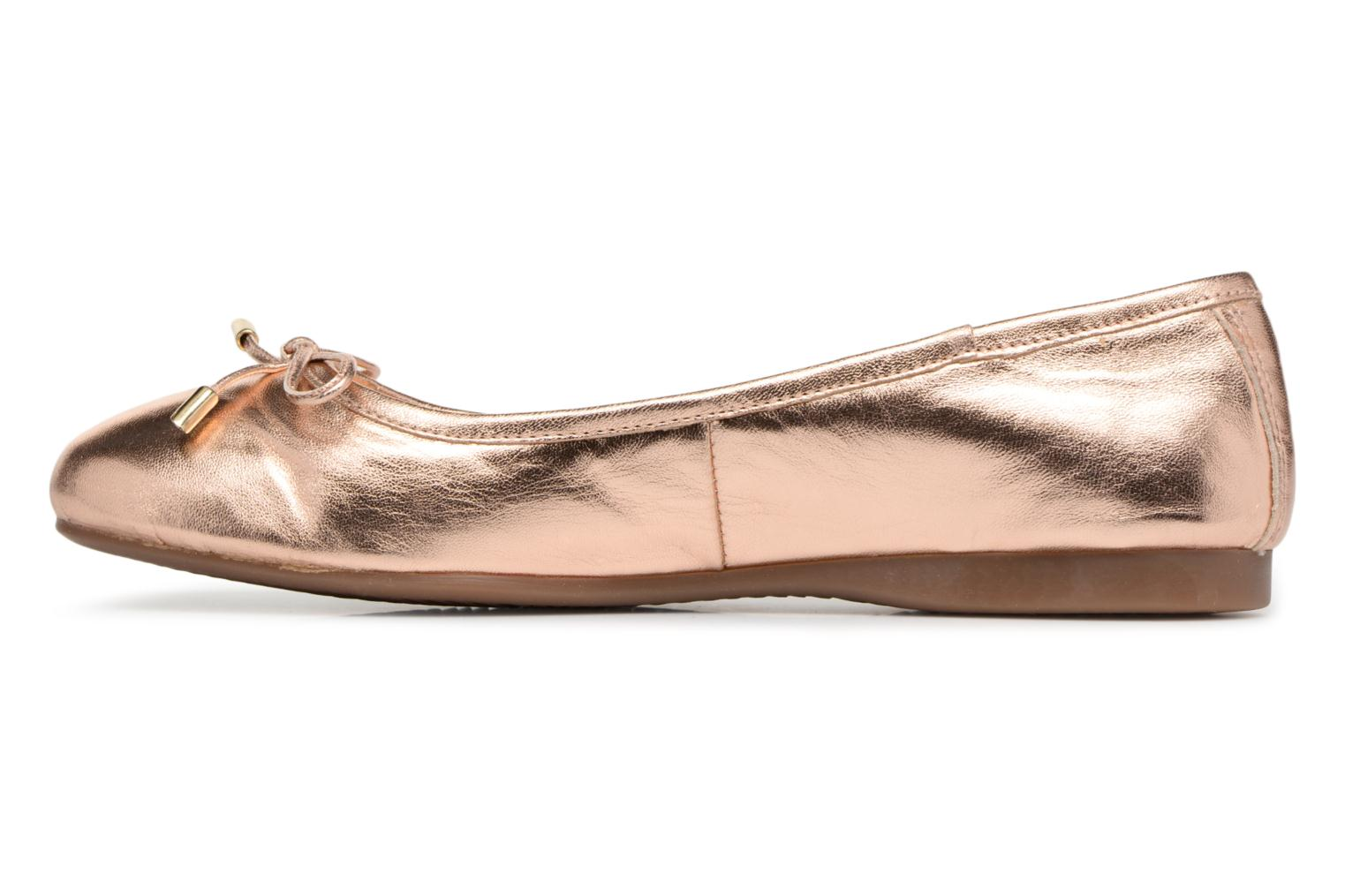 Ballet pumps Georgia Rose Lenova Soft Bronze and Gold front view