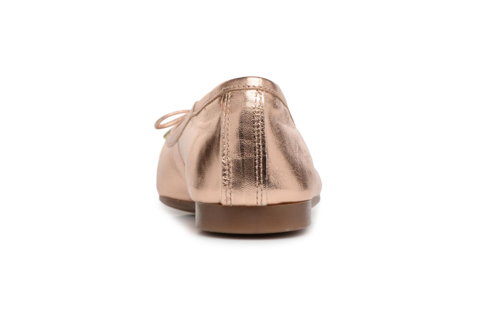 Ballet pumps Georgia Rose Lenova Soft Bronze and Gold view from the right