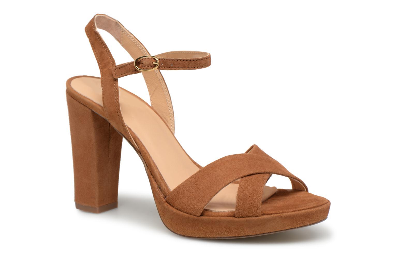 Sandales et nu-pieds Georgia Rose Lypatou Marron vue détail/paire