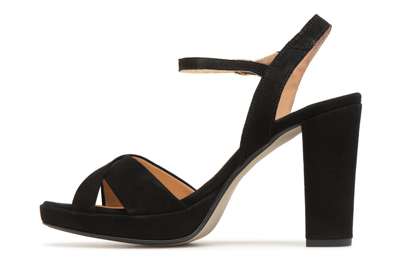 Sandales et nu-pieds Georgia Rose Lypatou Noir vue face
