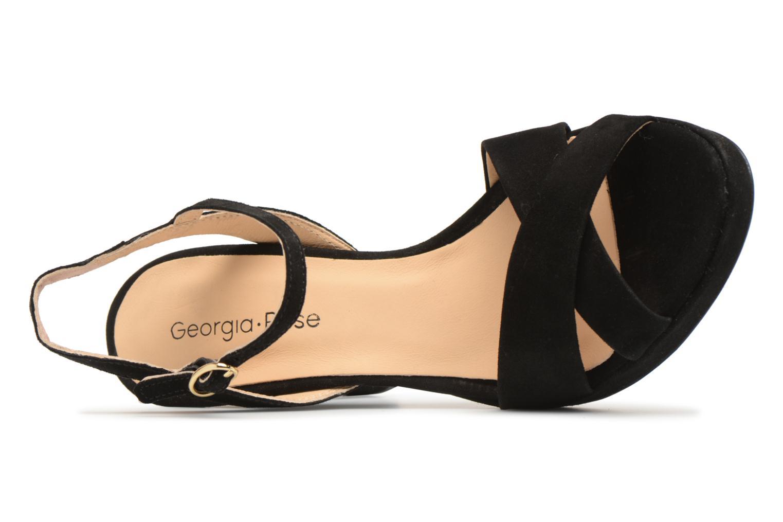 Sandales et nu-pieds Georgia Rose Lypatou Noir vue gauche