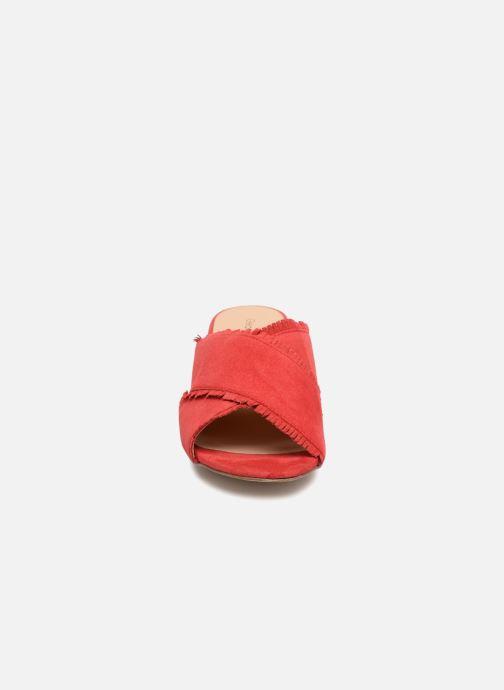 Mules et sabots Georgia Rose Lyfrange Rouge vue portées chaussures