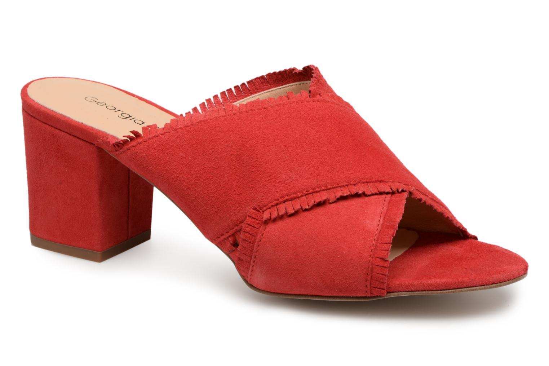 Nuevo - zapatos Georgia Rose Lyfrange (Rojo) - Nuevo Zuecos en Más cómodo e3e355