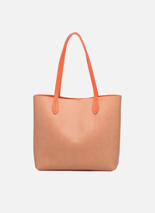 Sacs à main LPB Woman Cabas bicolore LPB Orange vue face