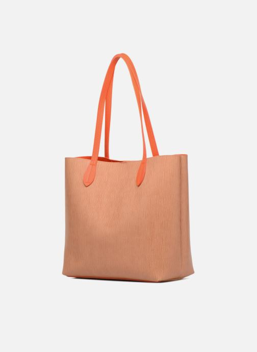 Sacs à main LPB Woman Cabas bicolore LPB Orange vue droite