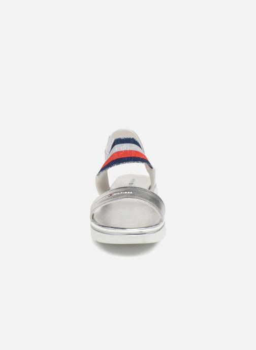 Sandalen Tommy Hilfiger Tommy 0131 silber schuhe getragen