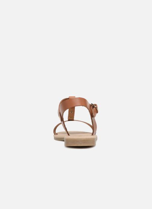 Sandales et nu-pieds Georgia Rose Miperlou Marron vue droite