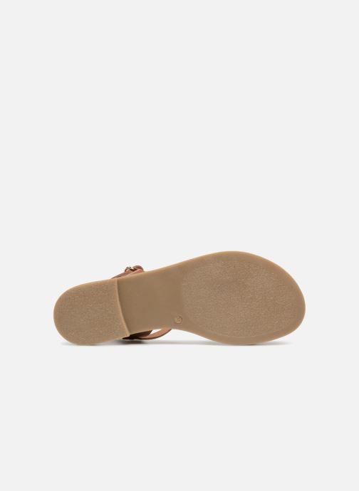 Sandales et nu-pieds Georgia Rose Miperlou Marron vue haut