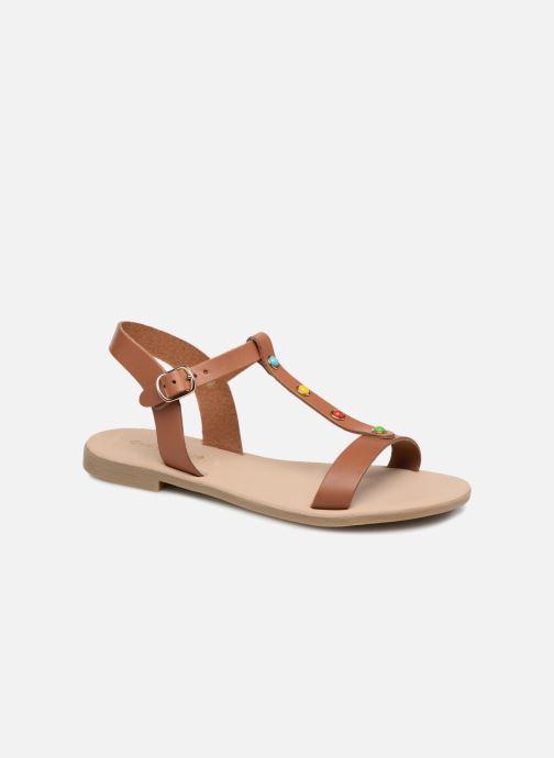 Sandales et nu-pieds Georgia Rose Miperlou Marron vue détail/paire
