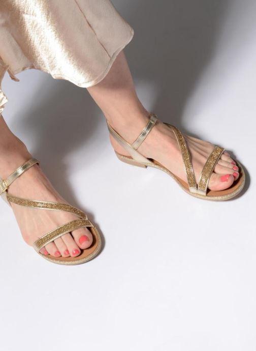 Sandales et nu-pieds Georgia Rose Mistrass Or et bronze vue bas / vue portée sac