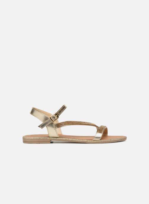 Sandales et nu-pieds Georgia Rose Mistrass Or et bronze vue derrière