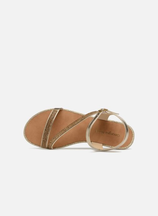 Sandales et nu-pieds Georgia Rose Mistrass Or et bronze vue gauche