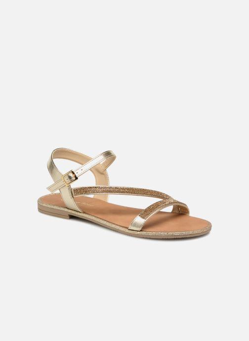 Sandales et nu-pieds Georgia Rose Mistrass Or et bronze vue détail/paire