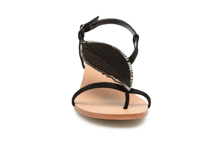 Sandales et nu-pieds Georgia Rose Mifeuilla Noir vue portées chaussures