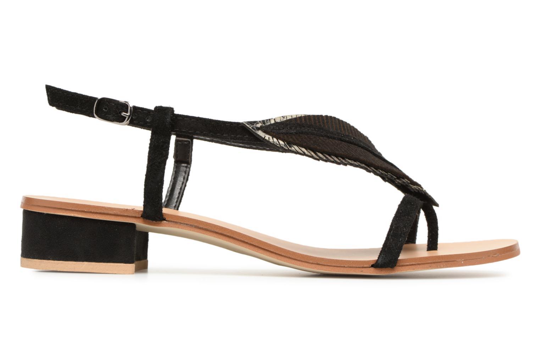 Sandales et nu-pieds Georgia Rose Mifeuilla Noir vue derrière