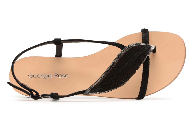 Sandales et nu-pieds Georgia Rose Mifeuilla Noir vue gauche