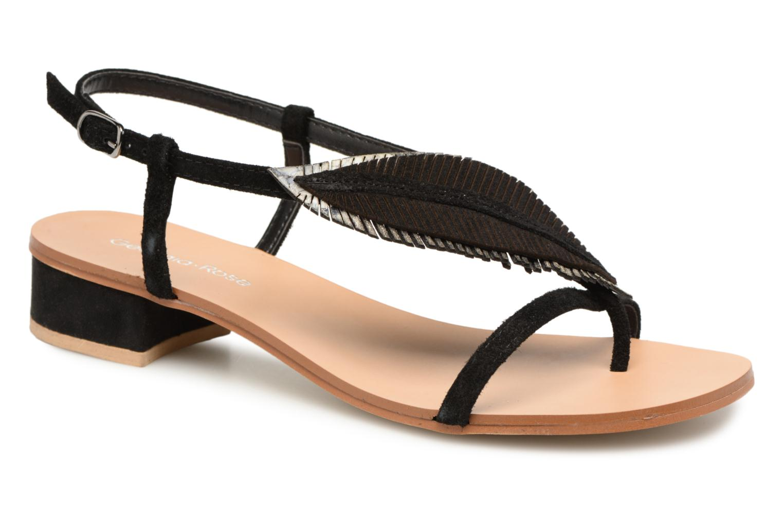 Sandales et nu-pieds Georgia Rose Mifeuilla Noir vue détail/paire