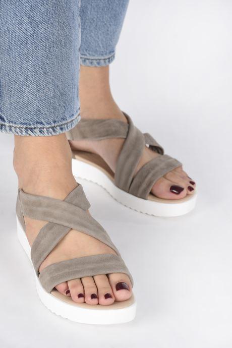 Sandales et nu-pieds Georgia Rose Milena Soft Beige vue bas / vue portée sac