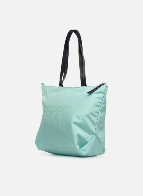 Handtaschen Esprit Cleo Shopper grün schuhe getragen