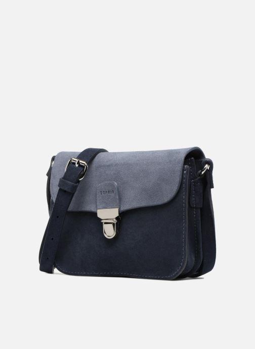 Sacs à main Esprit Bea Suede Small Shoulder Bag Bleu vue portées chaussures