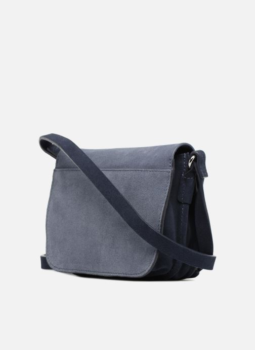 Sacs à main Esprit Bea Suede Small Shoulder Bag Bleu vue droite