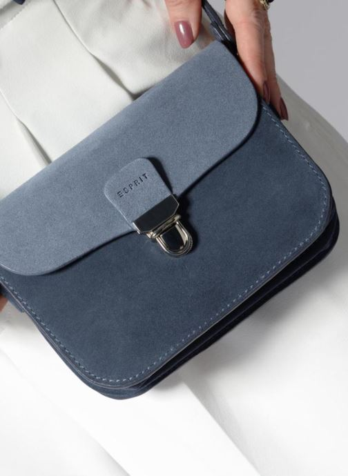 Sacs à main Esprit Bea Suede Small Shoulder Bag Bleu vue bas / vue portée sac