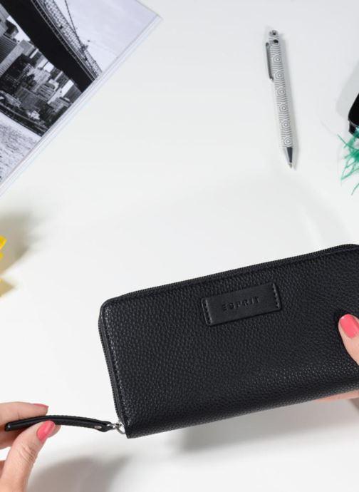 Pelletteria Esprit Christy Zip Around Wallet Nero immagine dall'alto