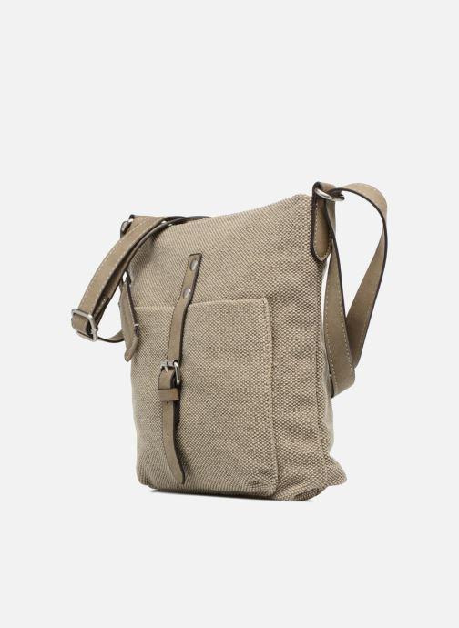 Sacs à main Esprit Phyliss Shoulder Bag Beige vue portées chaussures