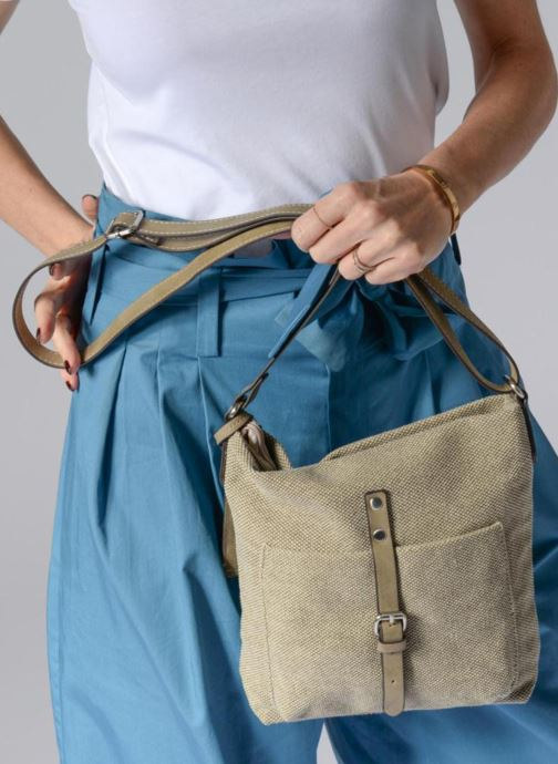 Handbags Esprit Phyliss Shoulder Bag Beige view from underneath / model view