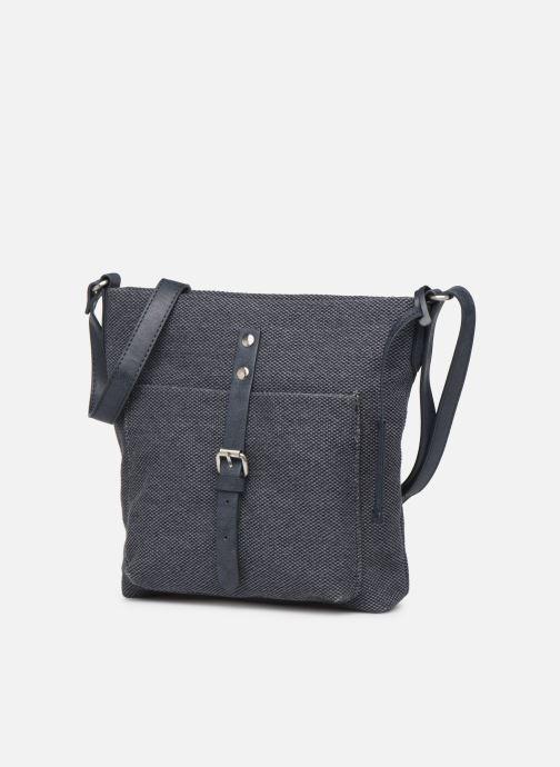 Sacs à main Esprit Phyliss Shoulder Bag Bleu vue portées chaussures