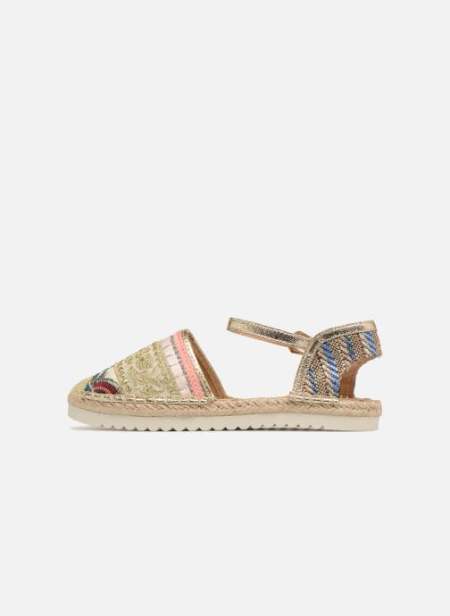 Espadrilles Refresh Tima Bronze and Gold front view