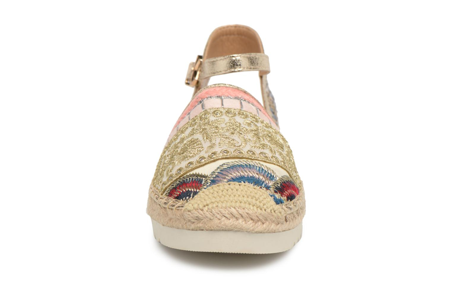 Espadrilles Refresh Tima Bronze and Gold model view