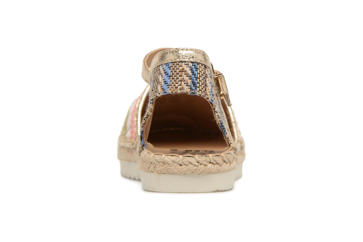 Espadrilles Refresh Tima Bronze and Gold view from the right
