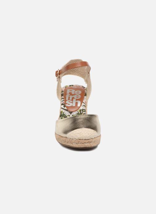 Espadrilles Refresh Clek Or et bronze vue portées chaussures