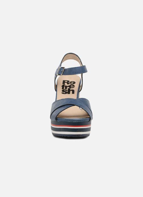 Espadrilles Refresh Runo Bleu vue portées chaussures