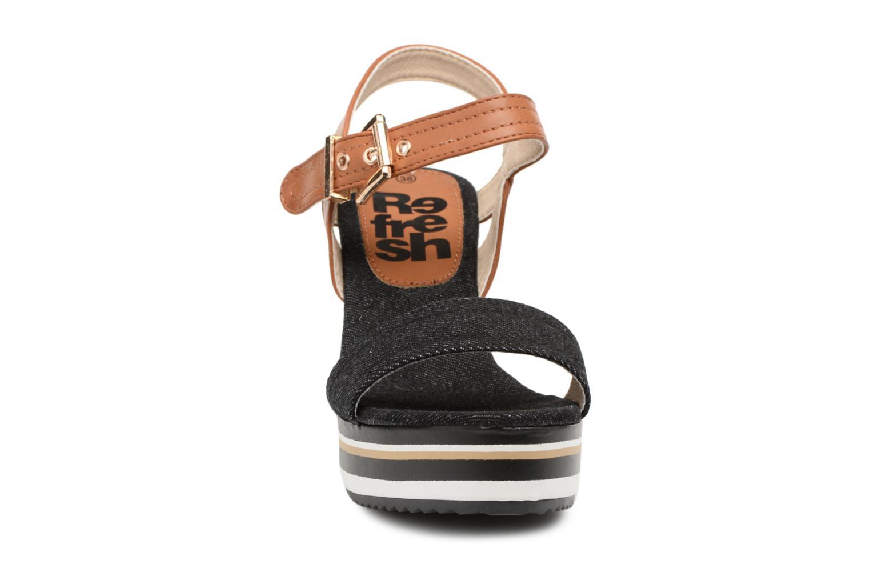 Espadrilles Refresh Dave Noir vue portées chaussures