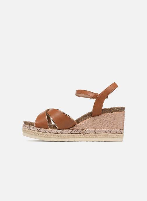 Sandales et nu-pieds Refresh Wuge Marron vue face