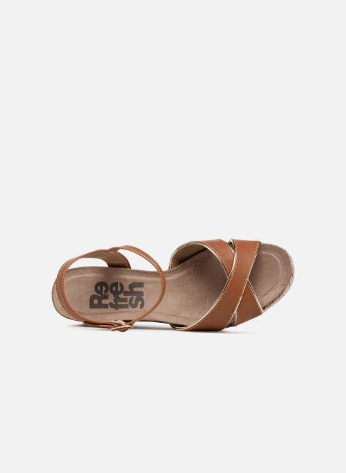 Sandales et nu-pieds Refresh Wuge Marron vue gauche