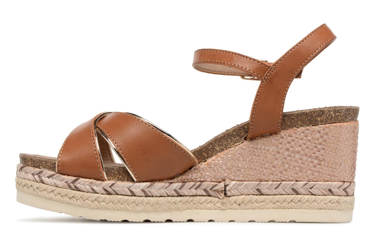 Sandals Refresh Wuge Brown front view