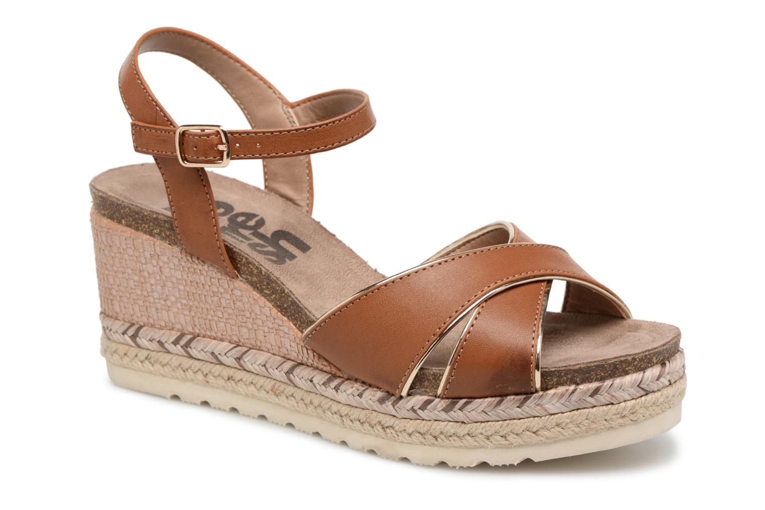 Sandals Refresh Wuge Brown detailed view/ Pair view