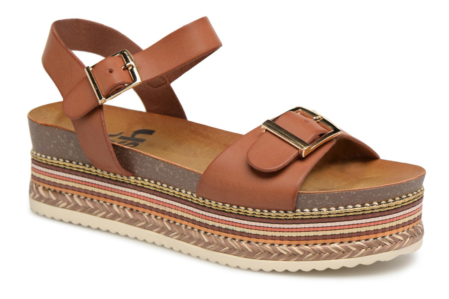 Sandals Refresh Yelo Brown detailed view/ Pair view