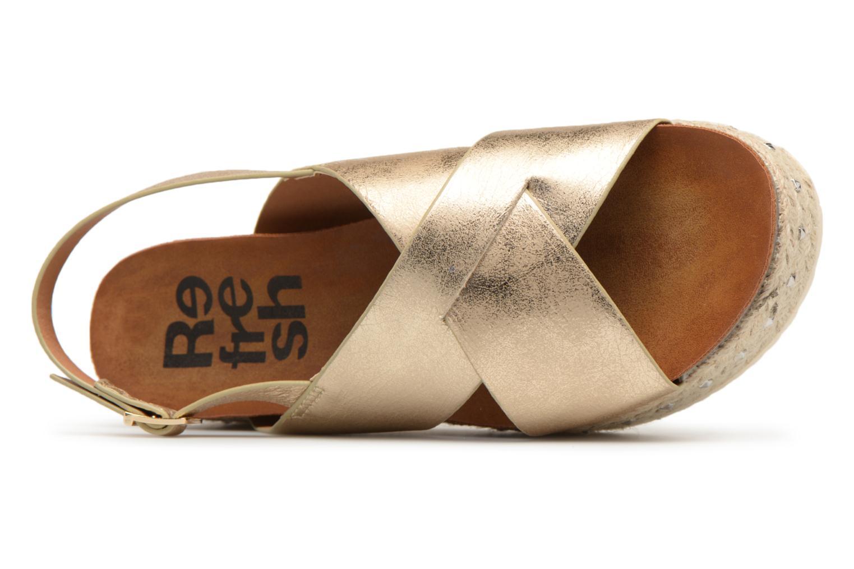 Sandales et nu-pieds Refresh Onos Or et bronze vue gauche