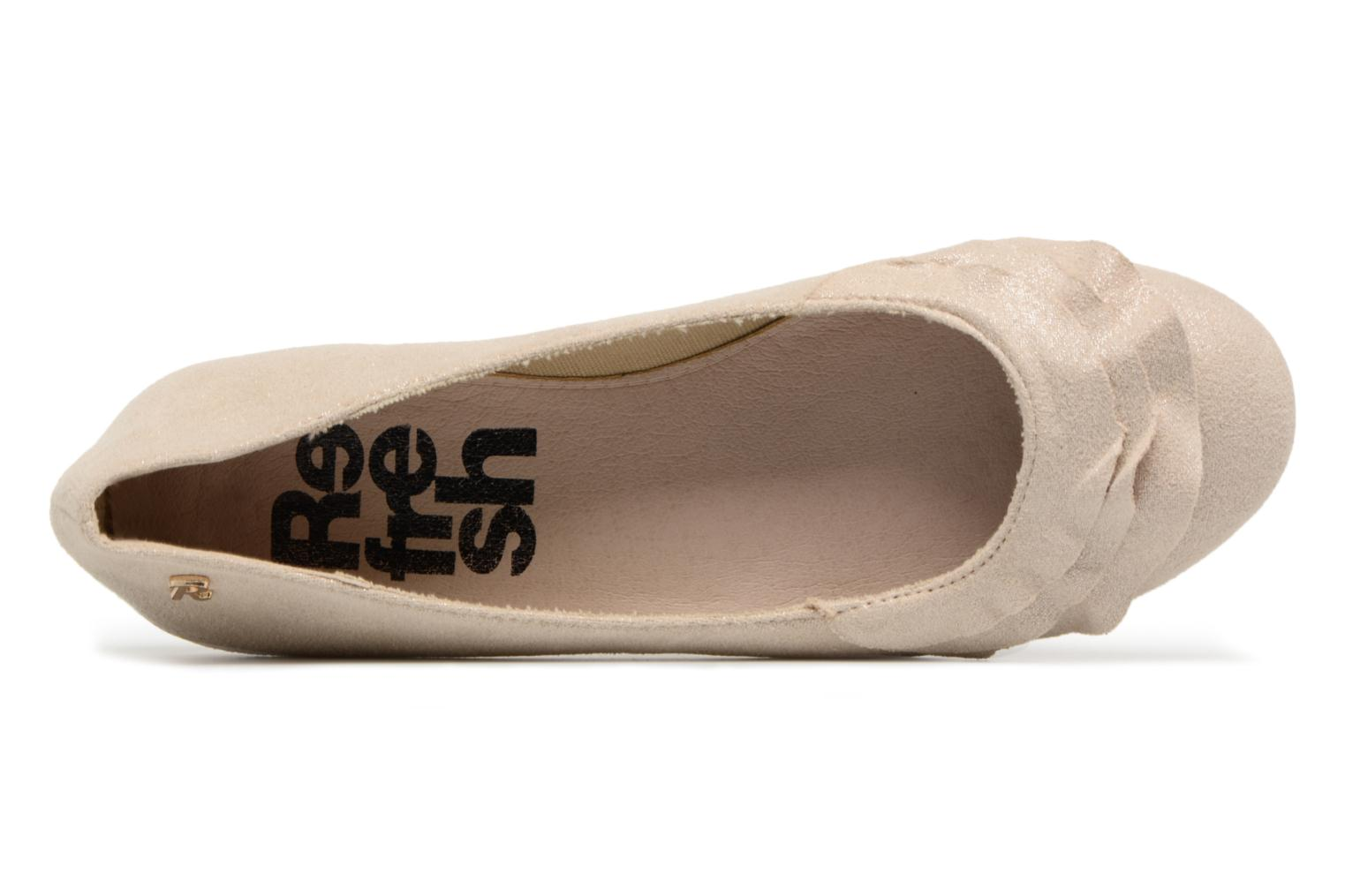 Ballerines Refresh Pyll Or et bronze vue gauche