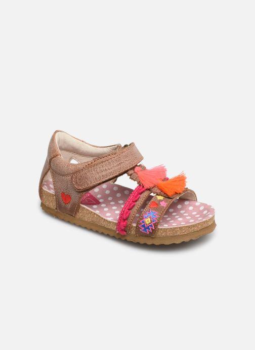 Sandals Shoesme Siloé Brown detailed view/ Pair view