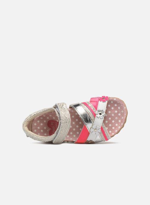 Sandalen Shoesme Sixte silber ansicht von links