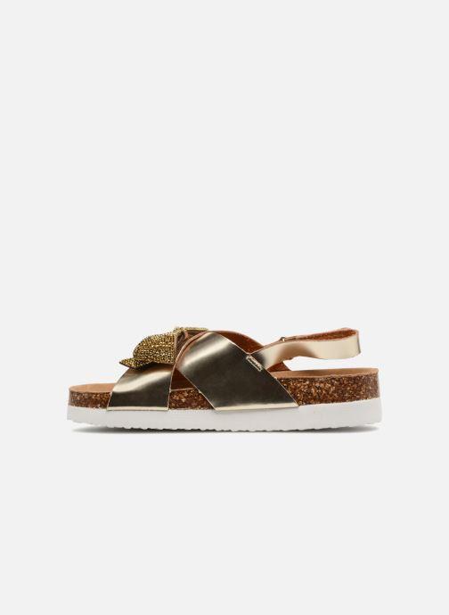 Sandalias Colors of California Bio Fashion Sandals Oro y bronce vista de frente