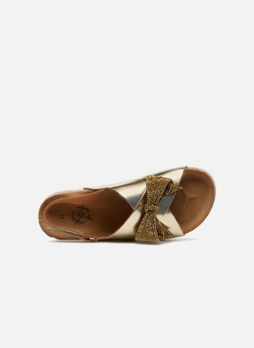 Sandalias Colors of California Bio Fashion Sandals Oro y bronce vista lateral izquierda