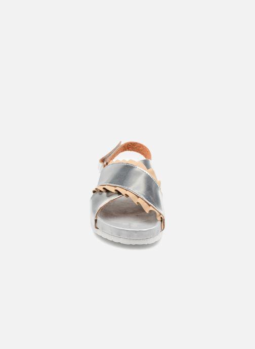 Sandali e scarpe aperte Colors of California Bio Fashion Sandals 2 Argento modello indossato