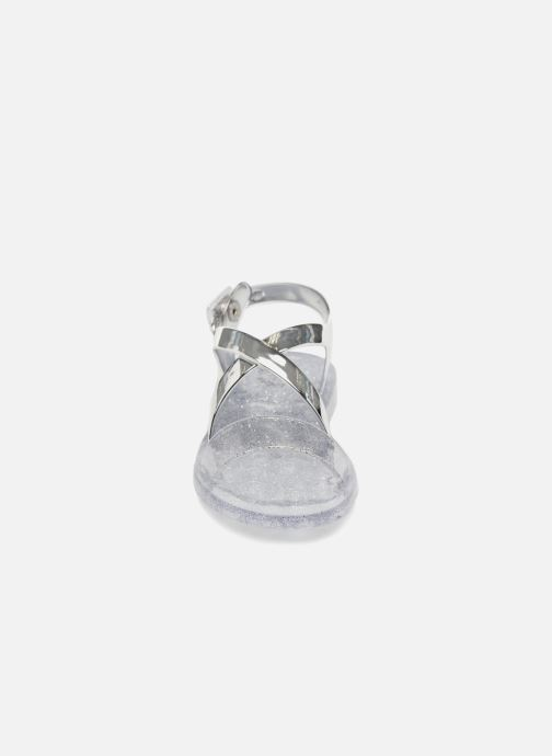 Sandalias Colors of California Fashion Jellies Plateado vista del modelo