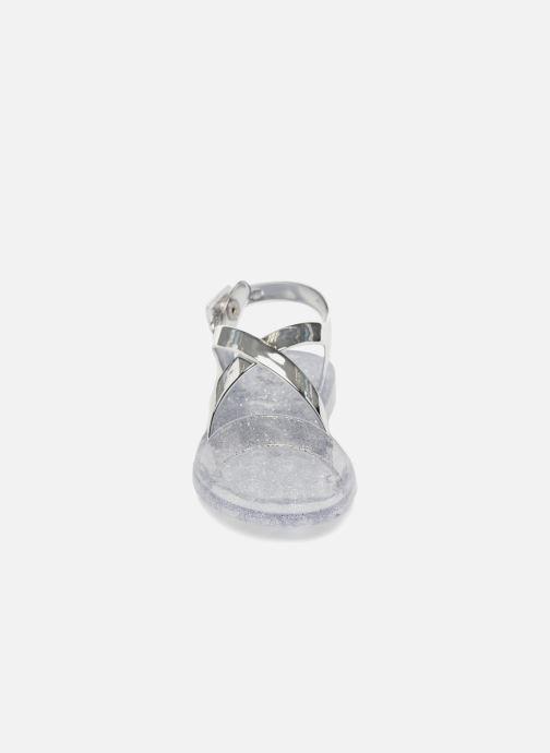 Sandali e scarpe aperte Colors of California Fashion Jellies Argento modello indossato